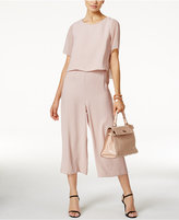 Alfani Petite Popover Culotte Jumpsuit, Only at Macy's