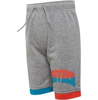 Converse Junior Boys Asymmetrical Colourblock Shorts Dark Grey Heather