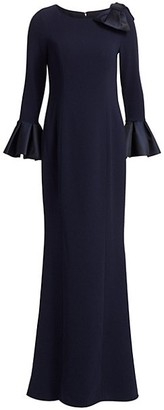 Teri Jon by Rickie Freeman Ruffle Mermaid Gown
