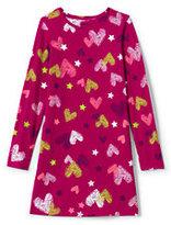 Lands' End Little Girls T-Shirt Dress-Candy Cane Print