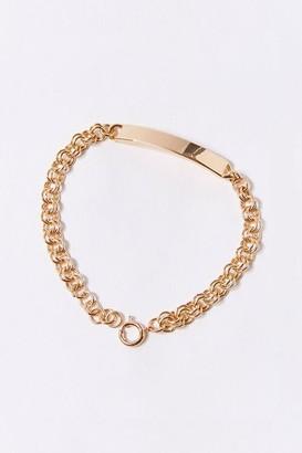 Forever 21 Bar Pendant Chain Bracelet