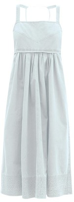 Proenza Schouler White Label Square-neck Cotton Midi Dress - Light Denim