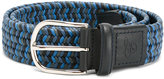 Canali elastic woven belt - men - Leather/Polyester - 90