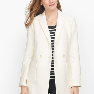 Talbots Textured Double Breasted Blazer