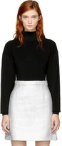 Carven Black Cropped Turtleneck