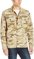 Lucky Brand Men's Camo Military Shirt Jacket