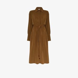 Fendi Crepe De Chine Silk Shirt Dress