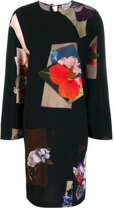 Acne Studios flower print midi dress