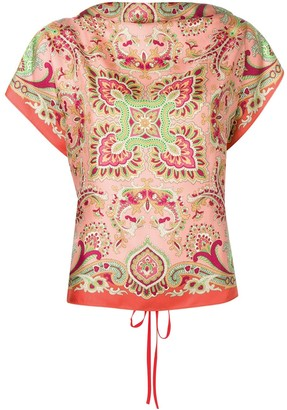 Etro Shortsleeved Printed Blouse