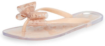 Dorothy Perkins Nude lace bow jelly sandals
