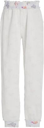 LoveShackFancy Clea Cotton-Knit Jogger Pants