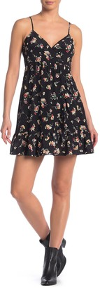 Madewell Floral Print Crossover Silk Cami Dress