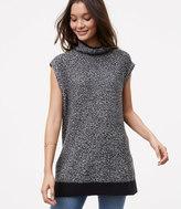 LOFT Sleeveless Marled Tunic Sweater