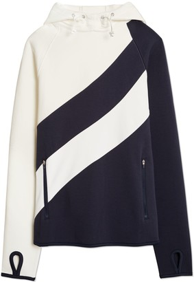 Tory Burch Reflective-Stripe Hoodie