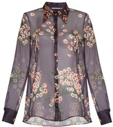 Rochas Daisy-print silk-chiffon blouse