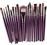 Makeup Brushes Set Fabal 20pcs/set Powder Foundation Eyeshadow Eyeliner Lip Brush Tool (Purple)