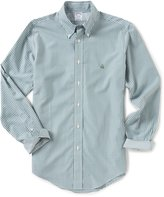 Brooks Brothers Non-Iron Regent-Fit Gingham Long-Sleeve Woven Shirt