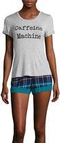 Asstd National Brand Wallflower Short-Sleeve Tee and Shorts Pajama Set