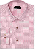 Bar III Men's Slim-Fit Stretch Easy Care Wear Me Out Rust/White Geometric Floral-Print Dress Shirt, Only at Macy's