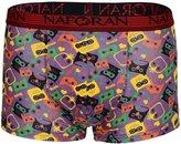 Panegy Men's Cartoon Printed Boxer Briefs Underpants Short Underwear- XL