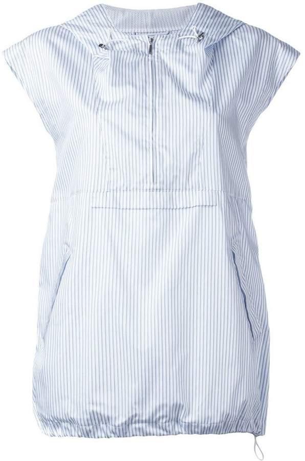 Maison Margiela pinstripe hooded top