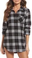 Make + Model Women's Plaid Cotton Blend Nightshirt