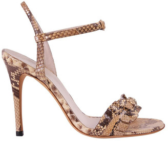 Gucci Brown Python Leather Sandals Size 35
