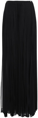 Versace Pleated Silk-blend Georgette Maxi Skirt