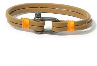 Panareha Teahupo'O Leather Bracelet Brown & Orange