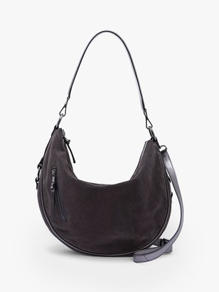 Mint Velvet Harriet Leather Hobo Bag, Grey