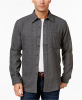 Club Room Men's Wool-Blend Heather Over Shirt, Only at Macy's