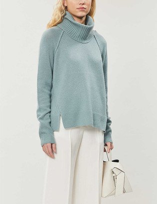 Me And Em Detachable-snood cashmere jumper