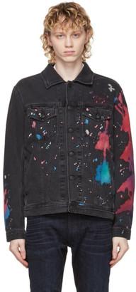 Diesel Black Denim Painted Nhill-C-SP Jacket
