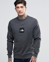 The North Face Sweatshirt With Embroidered Patch Logo In Gray