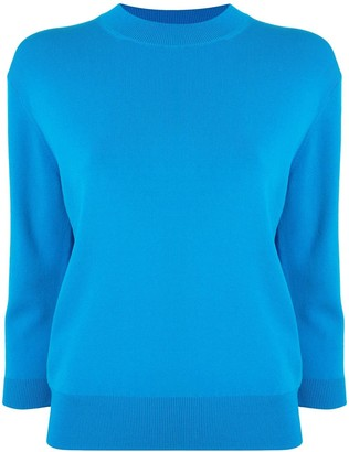 Le Ciel Bleu Three-Quarter Length Sleeve Jumper