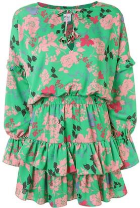 MISA Amalya floral-print dress