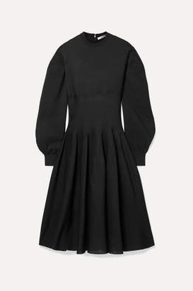 Givenchy Ribbed Silk-blend Midi Dress - Black