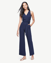 Ann Taylor Petite Sleeveless Belted Jumpsuit