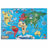 Melissa & Doug World Map Floor Puzzle 33-Pc.