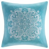 Nobrand No Brand Cotton Velvet Medallion Embroidered Pillow