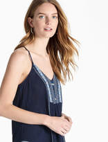 Lucky Brand Embroidered Bib Tank