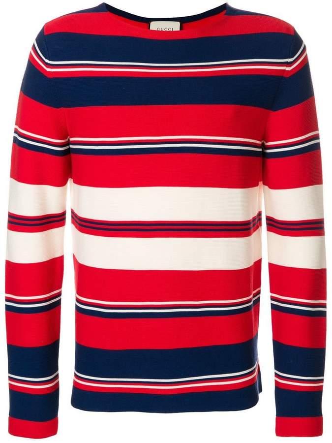Gucci striped design sweater