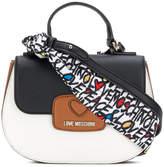 Love Moschino colour block satchel bag