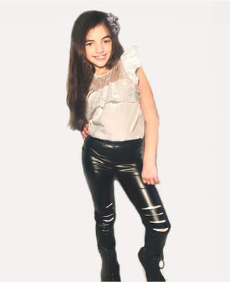 Mi Amore Gigi Little and Big Girls Lace Top and Legging Set