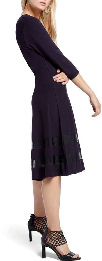 Thumbnail for your product : Nic+Zoe Charming Twirl Taffeta Inset Dress