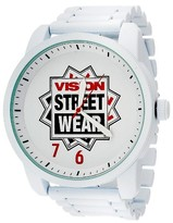 Vision Street Wear Men's Analog Watch - White