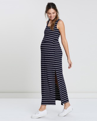 Angel Maternity Nursing Mama Maxi Dress