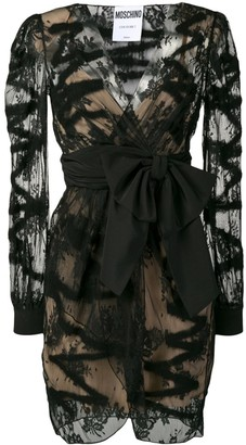 Moschino sheer bow-tie dress