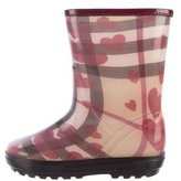 Burberry Heart House Check Rain Boots