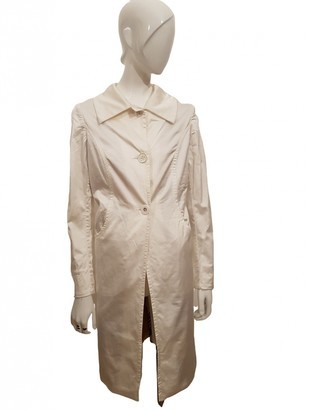 Maliparmi White Cotton Trench Coat for Women